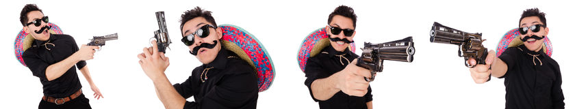 Śmieszny meksykanin z sombrero kapeluszem obraz royalty free