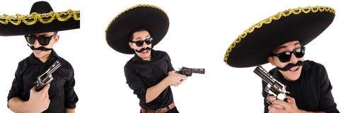 Śmieszny meksykanin z sombrero kapeluszem zdjęcie royalty free