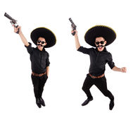 Śmieszny meksykanin z sombrero kapeluszem zdjęcia stock
