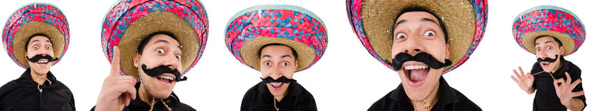 Śmieszny meksykanin z sombrero kapeluszem obraz stock
