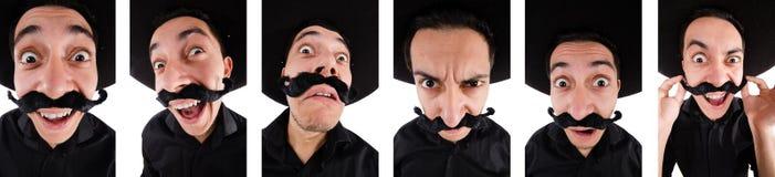 Śmieszny meksykanin z sombrero kapeluszem fotografia stock