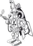 Śmieszny militarny robot royalty ilustracja