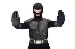Śmieszny ninja odizolowywający fotografia royalty free