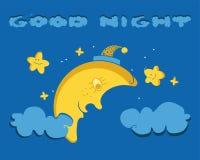 Śmieszny obrazek Uśmiechnięta księżyc obraz stock