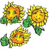 śmieszny ok pokazywać słonecznika wektor Zdjęcia Royalty Free