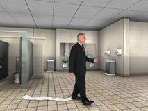 Śmieszny papier toaletowy Wtykający but Obraz Royalty Free