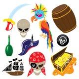 Śmieszny pirata set Obrazy Royalty Free
