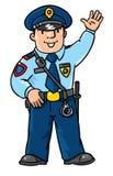 Śmieszny policjant Dzieci ilustracyjni ilustracja wektor