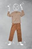 Śmieszny postać z kreskówki w przypadkowych ubraniach Obraz Royalty Free