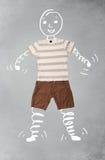 Śmieszny postać z kreskówki w przypadkowych ubraniach Zdjęcie Royalty Free