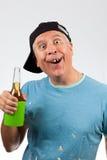 śmieszny przyglądający mężczyzna zdjęcie stock
