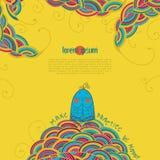 Śmieszny ptak w joga lotosu posturze Zdjęcia Stock