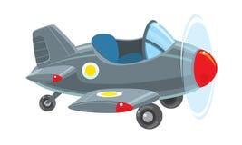Śmieszny retro samolot royalty ilustracja