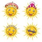 Śmieszny słońce Zdjęcia Royalty Free