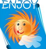 Śmieszny słońce Zdjęcie Stock