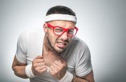 Śmieszny sporta mężczyzna Zdjęcie Stock