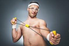 Śmieszny sporta mężczyzna zdjęcia royalty free