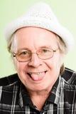 Śmiesznego mężczyzna portreta definici zieleni wysokiego tła istni ludzie Fotografia Stock