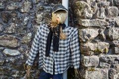 Śmieszny strach na wróble w włoskim countriside, Włochy fotografia stock