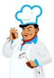 Śmieszny szczęśliwy szef kuchni Fotografia Royalty Free
