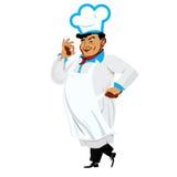 Śmieszny szef kuchni szczęśliwy ilustracji