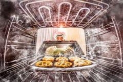 Śmieszny szef kuchni zdumiony i gniewny Nieudacznik jest przeznaczeniem! obrazy royalty free