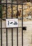 Śmieszny szyldowy ostrzeżenie magnetofonowy urination Zdjęcia Stock