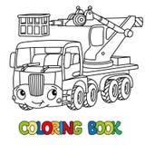 Śmieszny teleskopowy huku dźwignięcia samochód książkowa kolorowa kolorystyki grafiki ilustracja ilustracji