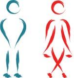 Śmieszny toaletowy symbol Fotografia Royalty Free