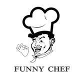 Śmieszny twarz szef kuchni royalty ilustracja