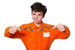 Śmieszny więźniarski więzień Obraz Stock