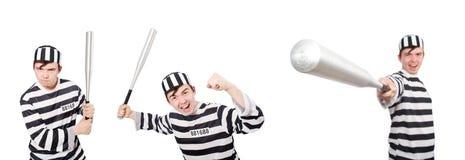 Śmieszny więźniarski więzień w pojęciu Fotografia Royalty Free