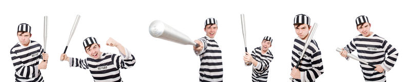 Śmieszny więźniarski więzień w pojęciu Obraz Stock