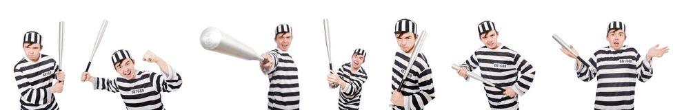Śmieszny więźniarski więzień w pojęciu Obraz Royalty Free