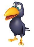 śmieszny Wroni postać z kreskówki Zdjęcia Royalty Free