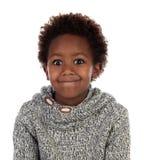 Śmieszny wyrażenie mały afrykański dziecko obrazy stock