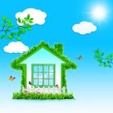 Śmieszny Zielony dom. ilustracja wektor