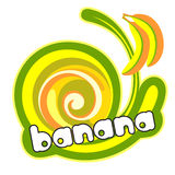 śmietanka bananowy lód royalty ilustracja