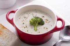 Śmietanka brokuły zupni Obrazy Royalty Free