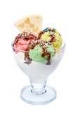 śmietanka syrop czekoladowy lodu. Obraz Stock