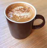 Śmietankowa kawa, Cappuccino kawa, Latte kawa, gorąca kawa, Dojna kawa Obrazy Royalty Free
