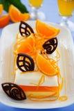 Śmietankowa pomarańcze galareta z tangerines Obrazy Royalty Free