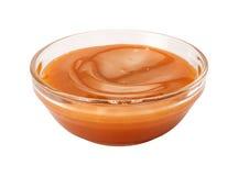 Śmietankowy karmelu syrop obrazy stock