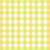 Śmietankowy Zielony szkockiej kraty tło Fotografia Stock