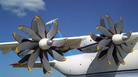 Śmigła AN-70 -2 samolot Obrazy Stock