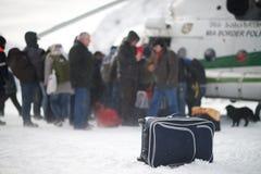 Śmigłowcowa ewakuacja w Gruzja Zdjęcia Stock