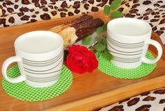 śniadania łóżkowy mleko Zdjęcia Stock