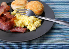 śniadanie płytki Fotografia Stock