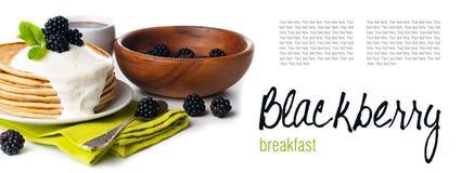 Śniadanie, przygotowywający szablon Zdjęcie Stock