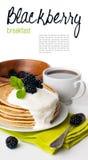 Śniadanie, przygotowywający szablon Zdjęcia Royalty Free